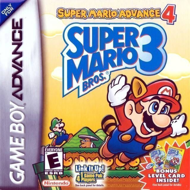 Super Mario Advance 4 - Super Mario Bros. 3 (V1.1) (USA) Game Cover