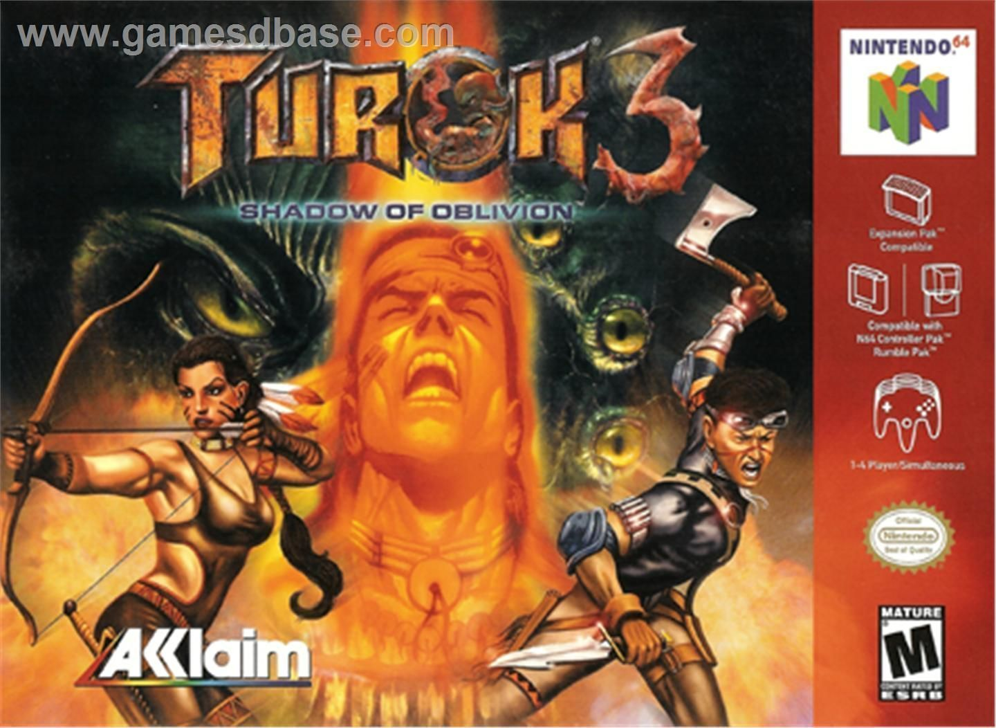 Turok 3 - Shadow Of Oblivion - N64 ROM Free Download