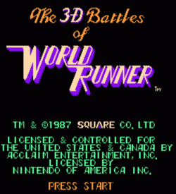 3-D Battles Of World Runner, The [hM34][a1]