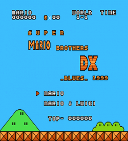 Super Mario Bros DX Blues (SMB1 Hack)