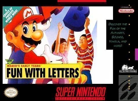 Mario's Early Years - Fun With Letters - Super Nintendo(SNES) ROM Download