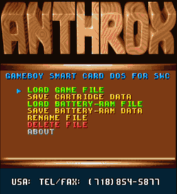 Anthrox - Gameboy Smart Card DOS For SWC DX (PD)